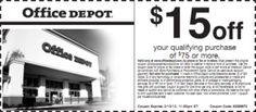 Office Depot Save $15 off $75+ Printable Coupon – Exp. February 13, 2012