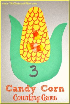 Candy Corn Counting Game: perfect fall or Halloween activity for preschoolers!