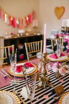 Kate Spade Inspired Dinner Party | The Perfect Palette http://www.theperfectpalette.com/2014/01/a-chic-and-swanky-kate-spade-inspired.html