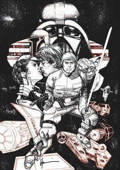 Original Art - Star Wars Insider #122 Cover by Howard Chaykin