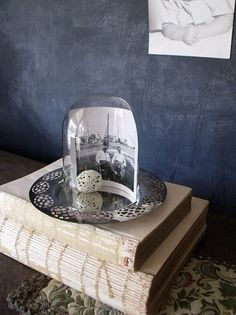 love this idea for a picture and glass globe