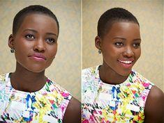 Natural Hair Everything — accras: Lovely Lupita Nyong'o at the Years A. Natural Hair Short Cuts, Short Natural Haircuts, Short Hair Cuts, Natural Hair Styles, Natural Hair Twa, Modern Haircuts, Short Fade Haircut, Shaved Hair Designs, Bald Hair