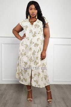 2f5d116daf Delightful Breeze Plus Size Floral Button-Front Dress Dresses+ GS-LOVE