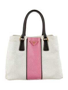 50's chic with this Prada Perforated Handle Bag - Luxurydotcom