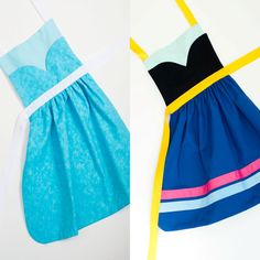 Disney's Frozen princess Anna and Elsa dress up apron set: Small 2-4 years, Medium 3-6 years, Large 5-8 years on Etsy, $46.00