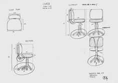 AR-04 Architectural Drawing: Chair