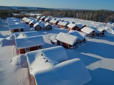 Santa Claus Holiday Village in Rovaniemi by air