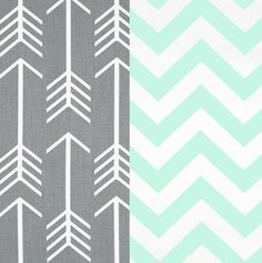 Grey Mint and White Duvet Cover with Matching by TheBeddingCompany, $95.00