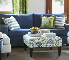 Navy & Green Living Room, I like the how these work together