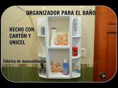 manualidades estanteria de 2 baldas hecha de carton DIY - Santiago y sus Ideas - YouTube