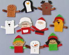Christmas Finger Puppet Set | Flannel Board Fun