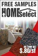homeselect carpet rolls free samples