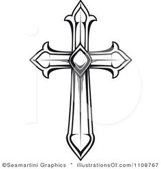 cross and wedding rings graphics