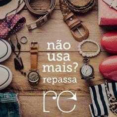 Compre e venda itens de moda gentilmente usados e ganhe dinheiro com as suas recomendações. No Repassa, todo mundo ganha! https://repassa.com.br/convite?t=3ZUWYCXZ