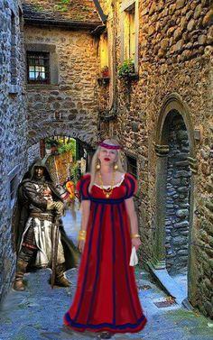 Na época das Cruzadas, em Toscana.