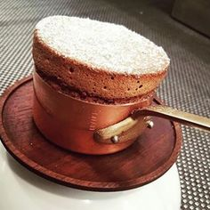 @quince_sf pastry chef, @yannick_dumonceau, bakes a magnificent chocolate soufflé in a #Mauviel Mini Copper Saucepan. It's almost too perfect to eat! #kitchen #cooking #food #copper #cookware #saucepan #chocolate #soufflé #bake #baker #baking #ovenware #kitchenware #tableware #dessert #restaurant #chef #cheflife #mauvielprofessional #madeinfrance