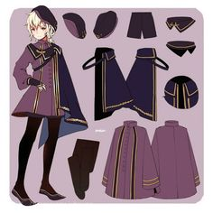 how to draw character clothing by climate Character Outfits, Character Art, Anime Outfits, Cute Outfits, Style Feminin, M Anime, Cosplay Anime, Lolita, Fashion Art