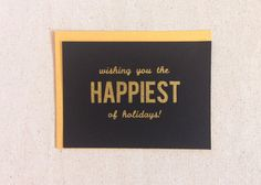 Holiday Card Set. Christmas Card Set. Black and Gold by FoxandWit
