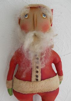 folk art primitive santa doll