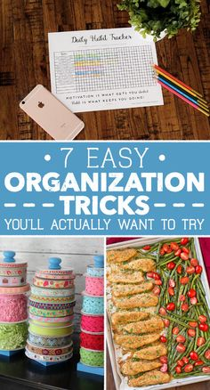Get organized with a few small changes.