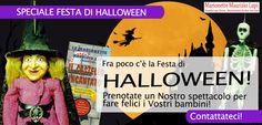 Speciale Festa di Halloween! Prenotate uno spettacolo di marionette a filo per i vostri bambini o alunni! Contattateci!