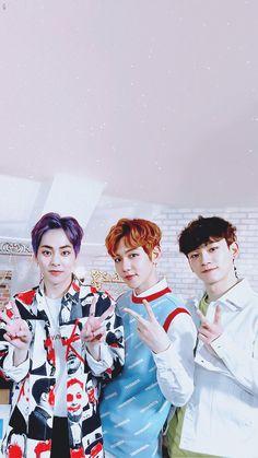 Xiumin, Baekhyun, and Chen