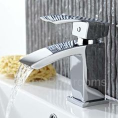 This mono basin tap adds a touch of contemporary style to any bathroom