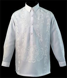 White Raya Barong Tagalog - Barongs R us Barong Tagalog Wedding, Mens Hottest Fashion, Mens Fashion, Annie Leibovitz Photos, Filipiniana Dress, Plain White Shirt, Line Shopping, Groom And Groomsmen, Traditional Dresses