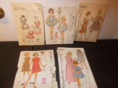 Inventory 46 Lot of 5 Vintage Patterns Girls Size 10