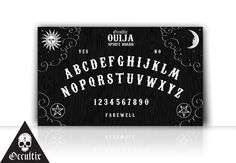 Ouija Board Canvas Print Occult 30x50cm black and by Occultix