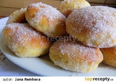 Pečené jogurtové koblihy recept - TopRecepty.cz Sweet Desserts, Sweet Recipes, Sweet Like Chocolate, Culinary Arts, Graham Crackers, Coffee Cake, Breakfast Recipes, Good Food, Brunch