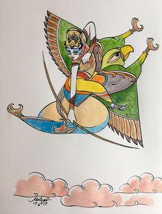 Krishna Drawing, Krishna Painting, Krishna Art, Krishna Leela, Indian Gods, Indian Art, Art Drawings Sketches, Cute Drawings, Mythological Creatures