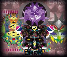 Fusión de personajes simétricos, alterados por el entorno