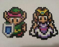 Link and Zelda Love Legend of Zelda Perler Bead by warpwhistle
