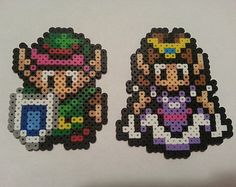 Link and Zelda Love Legend of Zelda Perler Bead by warpwhistle