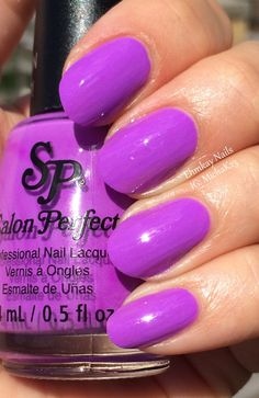 ehmkay nails: Salon Perfect Neons: Purple POP! and Wrapped Around My Pink-y