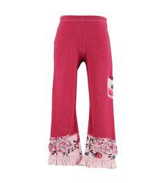 castle spot pants with print frills