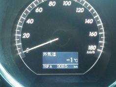今朝7時30分、さいたま市は氷点下です。