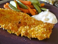 Salt and vinegar potato chip crusted baked fish. The only way to bake fish. This is awesome.