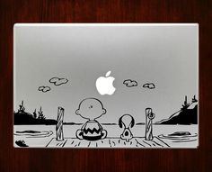 """Snoopy and charlie brown Decal Sticker Vinyl For Macbook Pro/Air 13"""" Inch 15"""" Inch 17"""" Inch Decals Laptop Cover"""