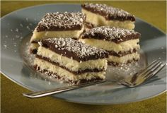 Tie najlepšie kokosové rezy, aké ste kedy mali! Sú pripravené za pár minút bez pečenia! Czech Desserts, Desserts To Make, Baking Recipes, Cookie Recipes, Dessert Recipes, Croatian Recipes, English Food, Mini Cakes, No Bake Cake