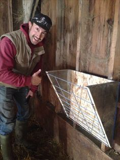Hay feeders we made, very easy and handy!! More