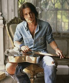 Johnny Depp, I watched him in Blow today. Good movie!