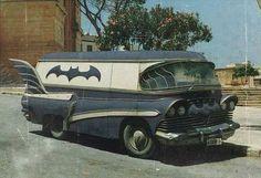 Vintage bat-mobile van