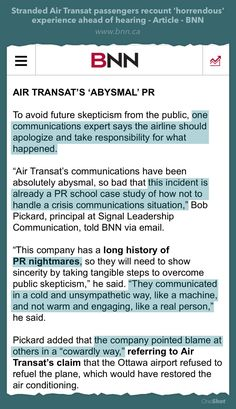 Air Transat, Candid, No Response, Leadership, Communication, Public, Shit Happens, Sayings, Lyrics