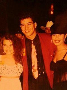 Mario Lopez and Selena