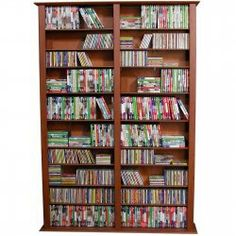 Horizon Bookcase Media Tower - Tall Double- 1508 CDs