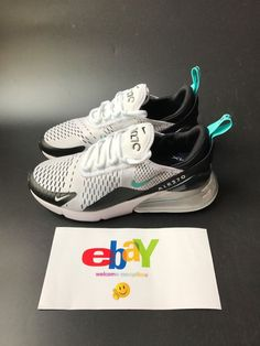 290718d84b2 Nike Air Max 270 Men Running Shoes Sneakers Black White Dusty Cactus  AH8050-001