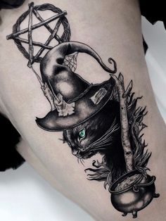 Top Fashion Tattoos – Tattoos That Marked This Year Spooky Tattoos, Witchcraft Tattoos, Tattoos, Wiccan Tattoos, Halloween Tattoos, Pagan Tattoo, Badass Tattoos, Wicca Tattoo, Witch Tattoo