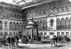 size: Giclee Print: The First Auction at Tattersall's New Buildings, 1865 : Entertainment Historical Romance Authors, London Places, Regency Era, Horses For Sale, Slice Of Life, Old London, Victorian Era, Figurative Art, 19th Century